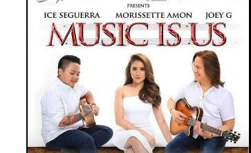 Music Is Us featuring Morissette Amon, Joey G and Aiza Seguerra